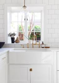 the best of brass in the kitchen farmhouse sinks white