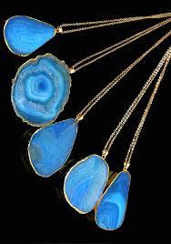 turquoise blue stone necklace images Turquoise druzy quartz stone pendant the snooki shop jpg