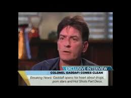 Gaddafi Meme - charlie sheen colonel gaddafi interview tiger blood korner youtube