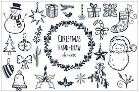 christmas hand draw elements illustrations creative market