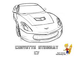 gusto car coloring pages in corvette omeletta me