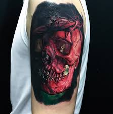 jesus skull wearing crown of thorns best tattoo design ideas