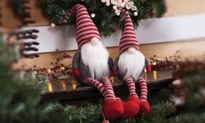 plush sitting santa decoration groupon goods