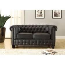 canap 2 places cuir noir gestepptes 3 sitzer sofa aus leder schwarz chesterfield living