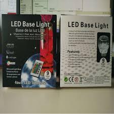 Led Vase Base Light 4inch Acrylic Remote Round Led Vase Base Light With 9 Super Bright