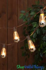 Light Bulb String Outdoor Metallic Dipped Silver Bulb String Lights Shopwildthings