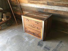 Reclaimed Wood File Cabinet Y Decor Bown Wood Metal 2 Drawer Handmade Rustic Filing Cabinet