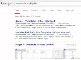 booklets templates 2 easy ways to make a booklet on microsoft word wikihow