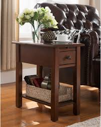 bargains on house sutton side table with charging station in