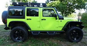 wrangler jeep green 2016 rubicon hyper green fab fours grumper custom built