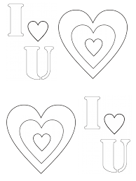 i heart you printable valentines crayon action coloring pages