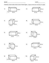 area and volume worksheets worksheets