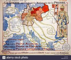 World War One Map by French Vintage Ww1 Propaganda Map From 1917 Showing German
