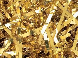 cello shred metallic gold basket filler