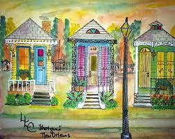 new orleans colorful houses shotgun houses etsy