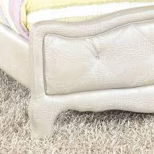 Silver Vanity Chair Furnituremaxx Julia Silver And Pearl U0027s Full Size Bedroom Set