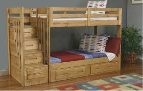 bedroom glamorous bunk bed with desk and stairs slide bedroom