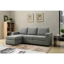 nathaniel home alexandra small space convertible sectional
