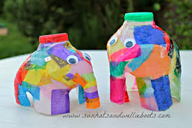 sun hats u0026 wellie boots elmer the elephant lantern made from a