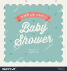 baby shower invitation card editable type stock vector 135110846