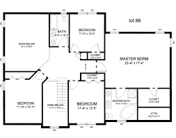 Simple One Bedroom House Plans Simple Two Story Rectangular House Design With Kitchen Four