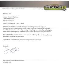 Business Letter Of Appreciation For Service by Murder Mystery Dinner Show Denver Colorado Adams Mystery Playhouse