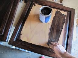 How To Gel Stain Cabinets by How To Refinish Oak Cabinets With Stain The Big Reveal Merrypad