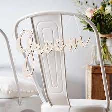 Wedding Chair Signs Personalised Wooden Wedding Chair Sign By Sophia Victoria Joy