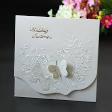 embossed wedding invitations 50pcs retro 3d butterfly floral wedding invitaions laser cut