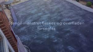 Flo Coat Resurfacer by Stencil Beton Stencil Concrete Timelapse Youtube