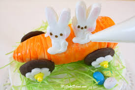Easter Cake Decorating Ideas With Peeps by Carrot Car Cake Topper Rollin U0027 With My Peeps My Cake