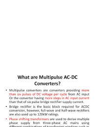 multi pulse converters new power supply rectifier