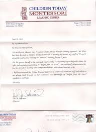 ideas collection recommendation letter for preschool teacher with