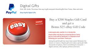 Buy Giftcards With Paypal by 200 Staples Gift Card 25 Ebay Gc 5x Frequent Miler