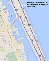 Ormond Beach Florida Map by Course Maps The Daytona Beach 50k