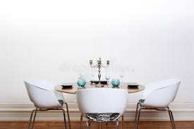 modern dining room round table stock image image 9994447