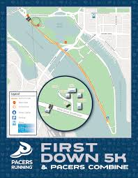 Independence Ohio Map first down 5k course map pacers running