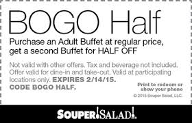 Old Country Buffet Coupon Buy One Get One Free by Souper Salad Coupons Printable Coupons In Store U0026 Coupon Codes