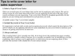 Sales Supervisor Job Description Resume by Sales Supervisor Cover Letter