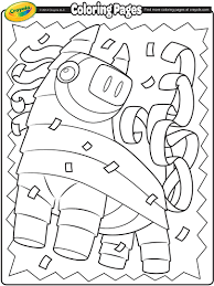 pinata coloring page free coloring pages on art coloring pages