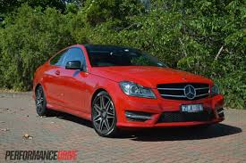 car mercedes red 2013 mercedes benz c 250 coupe sport review video performancedrive