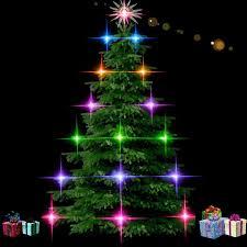 free illustration fir lights decorations free