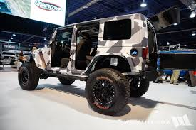 camo jeep yj 2016 sema truck hero camo jeep jk wrangler unlimited