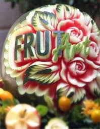 Vegetable And Fruit Decoration Frutart Fruit Carving Vegetables Carving And Garnish For Fairs