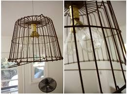 Wire Light Fixtures Top Diy Wire Basket Lights The Merrythought About Basket Light