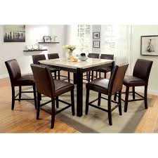 furniture of america mullican counter height display top dining