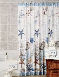 Sea Themed Shower Curtains Coral Themed Shower Curtain Best House Design Wonderful
