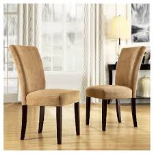 target parsons dining table amity parson dining chair wood camel chenille set of 2 inspire q