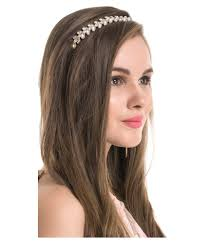 hair bands online kazo silver casual hair band hair accessories buy online at low