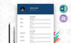 Word Resume Template 2014 Best Resume Templates Ms Word Psd Ai Resummme